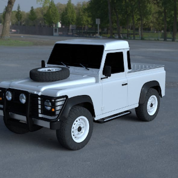 Land Rover Defender 90 Pick Up HDRI