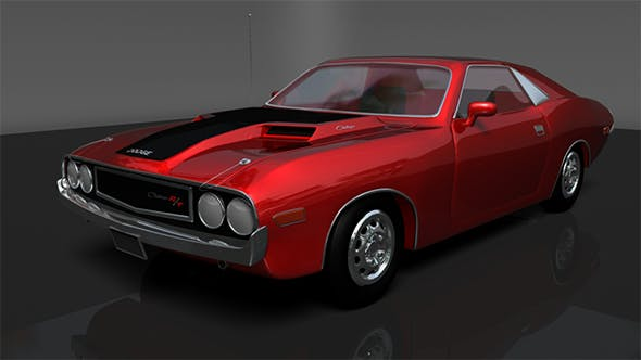 Dodge Chellenger 1970 - 3DOcean Item for Sale