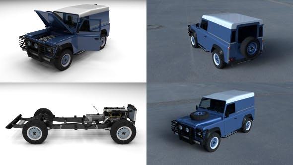 Full Land Rover Defender 90 Hard Top HDRI - 3DOcean Item for Sale