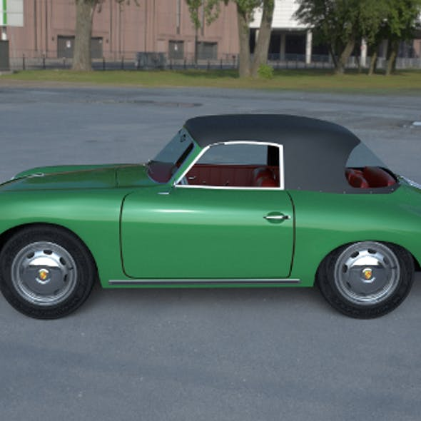 Porsche 356 Cabriolet HDRI