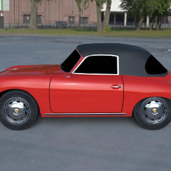Porsche 356 Cabrio HDRI