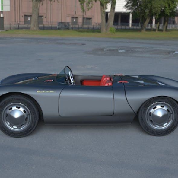 Porsche 550 Spyder gray HDRI