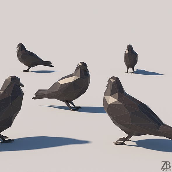 Lowpoly Pigeon 001