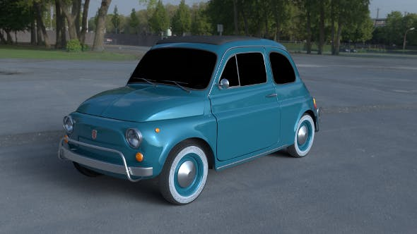 Fiat 500L Luxe 1968 HDRI - 3DOcean Item for Sale