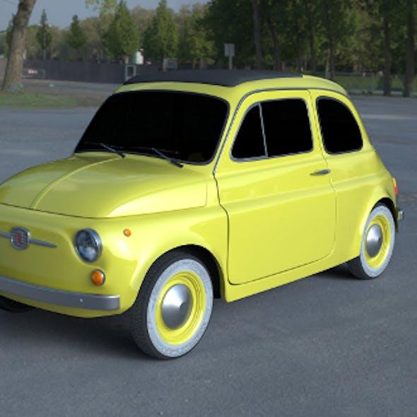 Fiat 500D Nuova 1960 HDRI