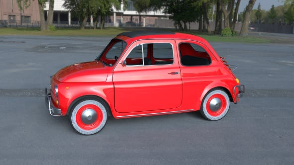 Fiat 500L Luxe 1968 with interior HDRI - 3DOcean Item for Sale