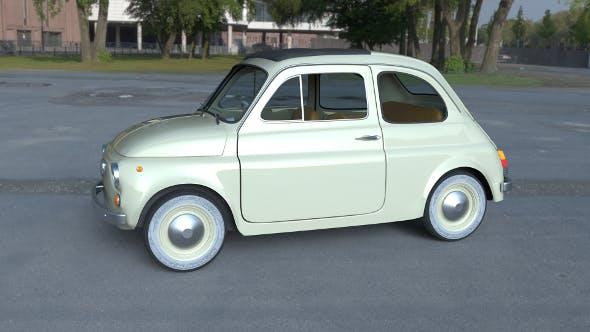 Fiat 500D Nuova 1960 with interior HDRI - 3DOcean Item for Sale
