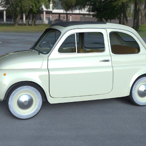 Fiat 500D Nuova 1960 with interior HDRI