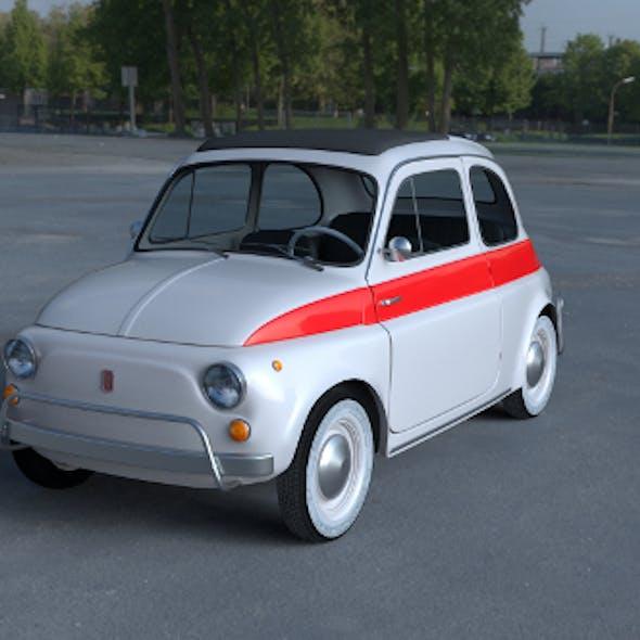 Fiat 500 Nuova Sport 1958 with interior HDRI 3D Model