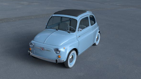 Fiat 500 Nuova 1957 with interior HDRI - 3DOcean Item for Sale
