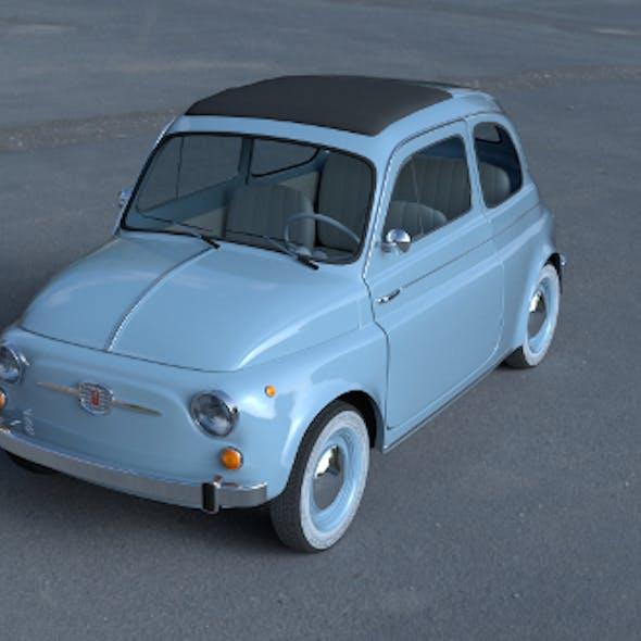 Fiat 500 Nuova 1957 with interior HDRI