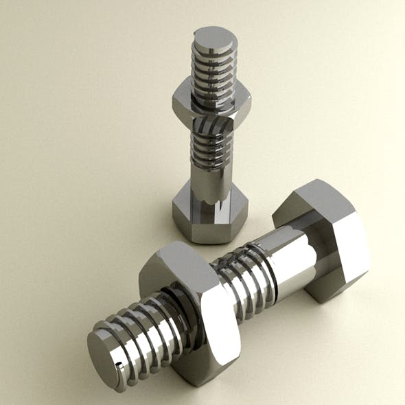 bolt and nut - 3DOcean Item for Sale