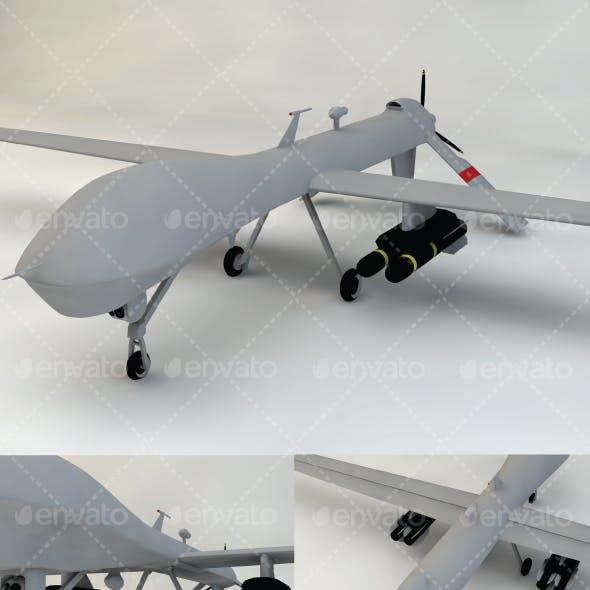 Drone Predator Low-Poly