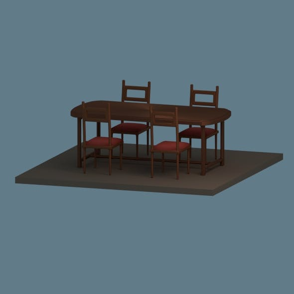 Low Poly Dining Table