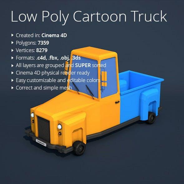 Low Poly Cartoon Truck