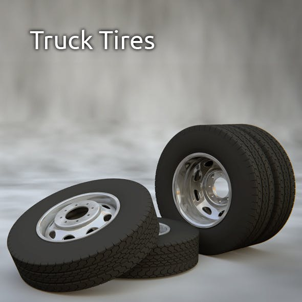 Truck Tire And Rim - 3DOcean Item for Sale