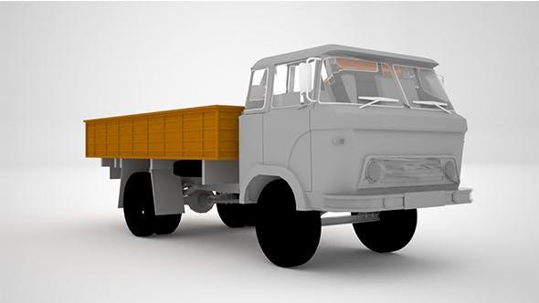 Low poly Trucker Loader - 3DOcean Item for Sale
