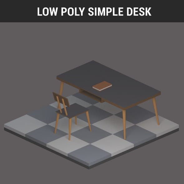 Low Poly Simple Desk