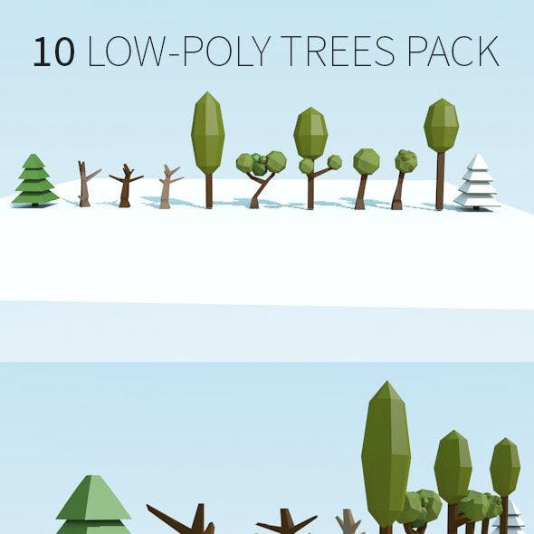 Low-Poly trees pack