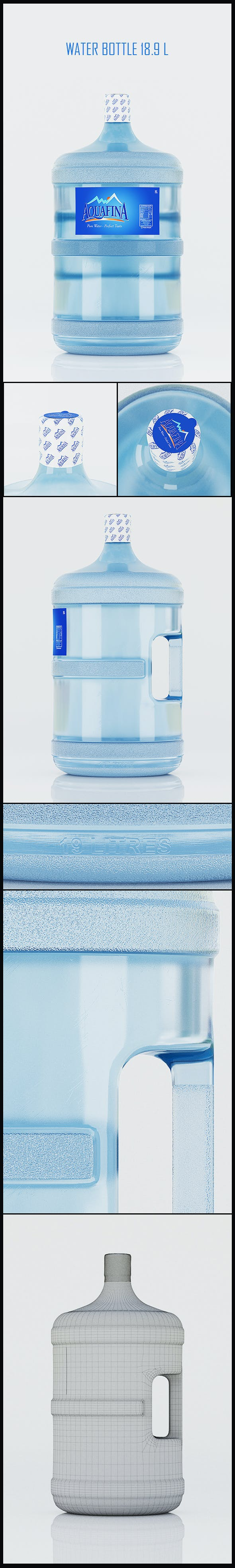 18.9 LITTRE WATER BOTTLE - 3DOcean Item for Sale