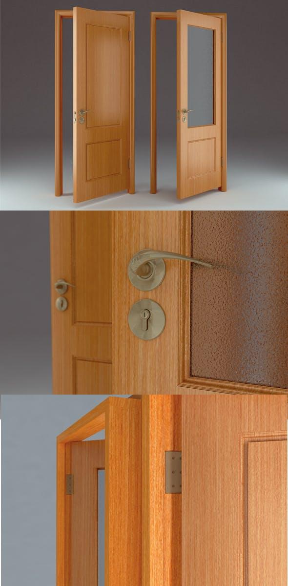 """Door """"Retro"""" - 3DOcean Item for Sale"""