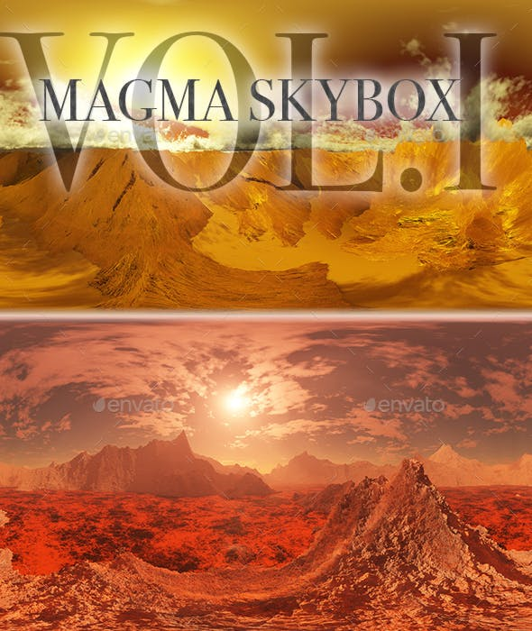 Magma Skybox Pack Vol.I - 3DOcean Item for Sale