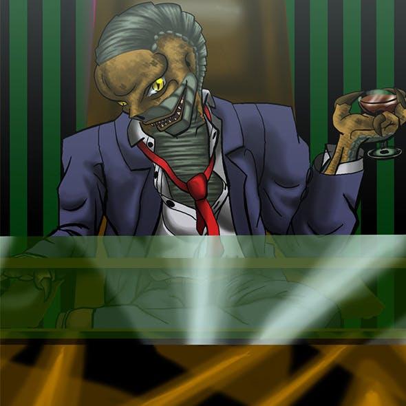 Reptilian boss