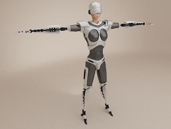 Female Cyborg - 3DOcean Item for Sale