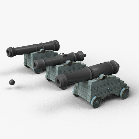 Cannons - 3DOcean Item for Sale