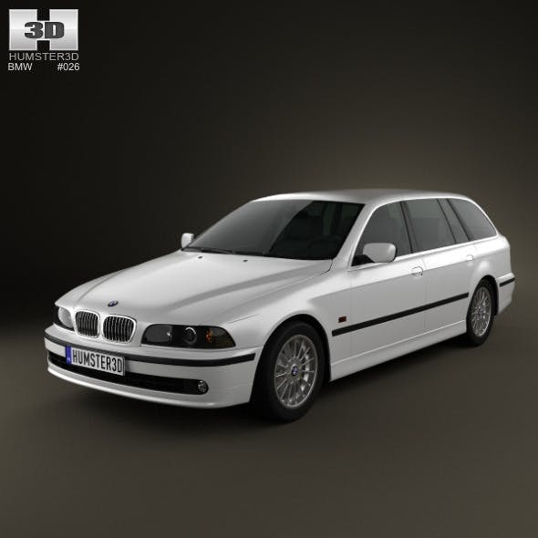 BMW 5-series E39 Touring (1995-2003) - 3DOcean Item for Sale