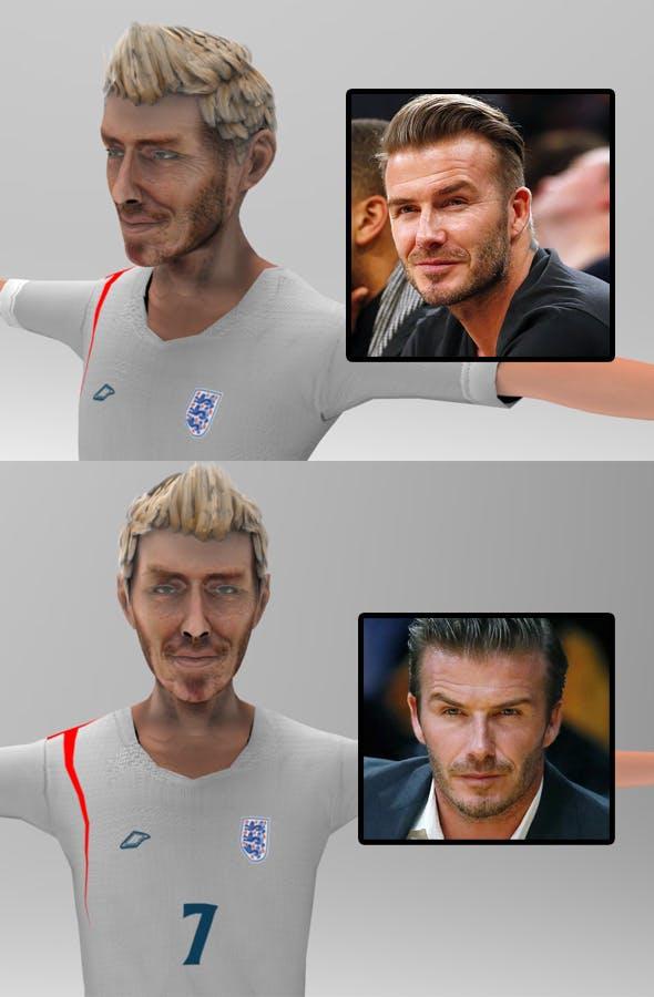 Beckham toon figure - 3DOcean Item for Sale
