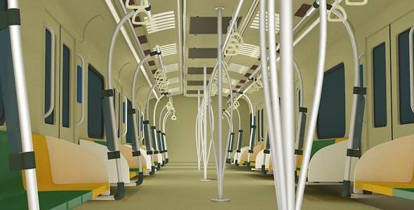 Metro Rail Interior Model - 3DOcean Item for Sale