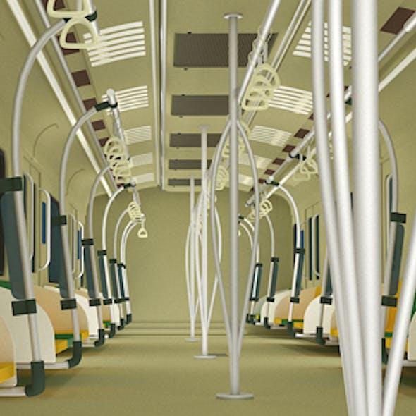 Metro Rail Interior Model