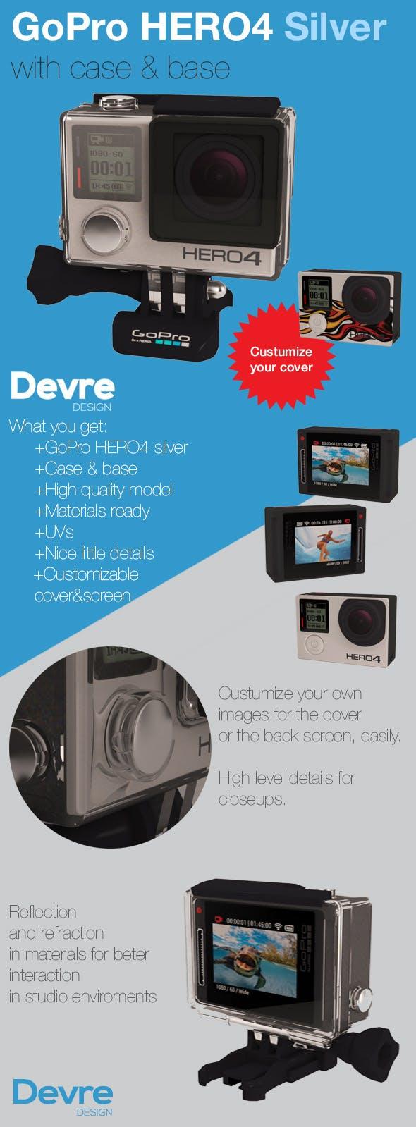 GoPro HERO 4 Silver - 3DOcean Item for Sale