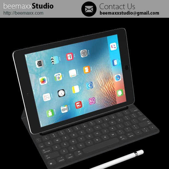 Apple iPad Pro 9.7 Inch 2016 E3D + Apple Pencil + Apple Smart Keyboard