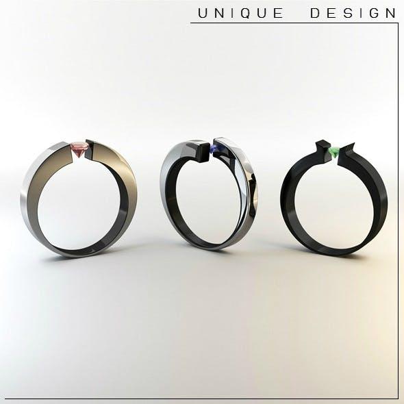 3D Rings - 3DOcean Item for Sale