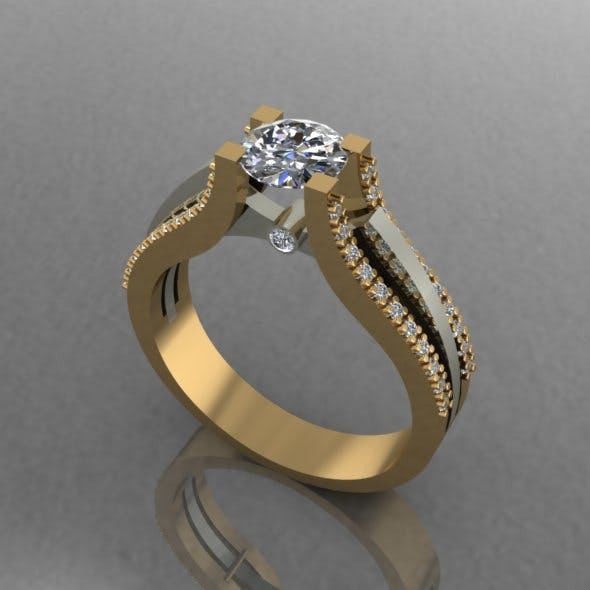 Engagement Ring - 3DOcean Item for Sale