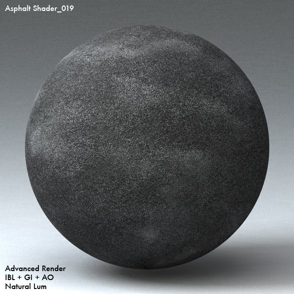Asphalt Shader_019 - 3DOcean Item for Sale