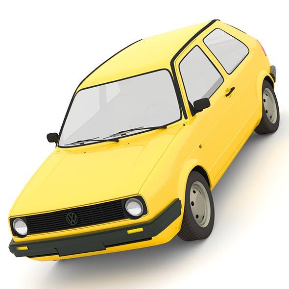 Volkswagen Golf mk2 - 3DOcean Item for Sale