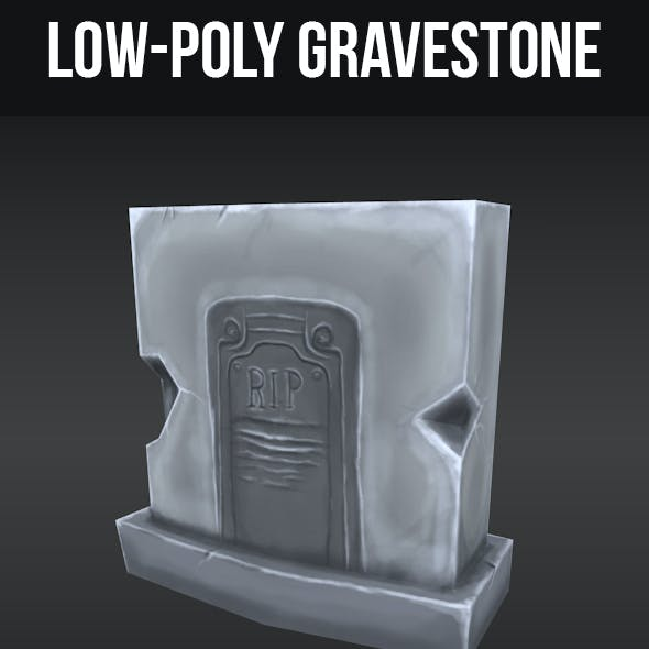 Low-Poly Grave Stone