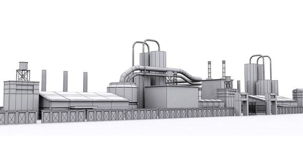 Industrial Area Model - 3DOcean Item for Sale