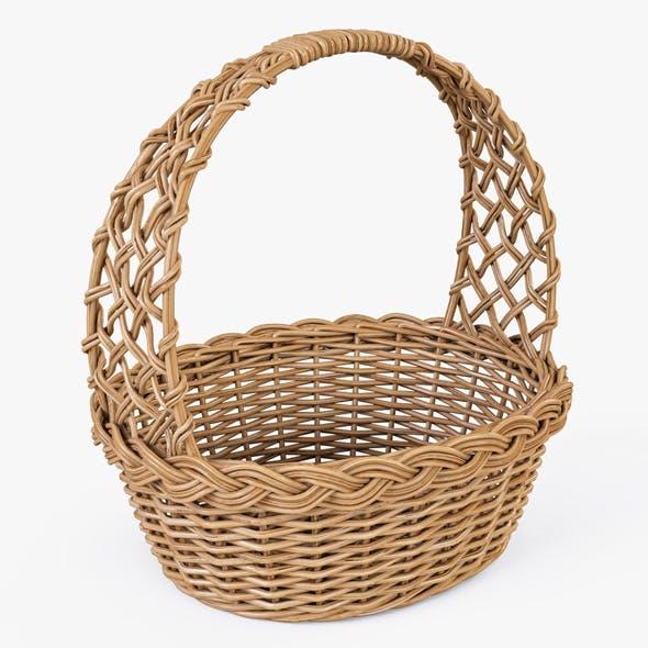 Wicker Basket 04 (Natural Color) - 3DOcean Item for Sale