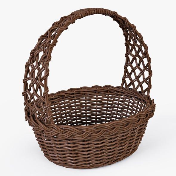 Wicker Basket 04 (Brown Color) - 3DOcean Item for Sale