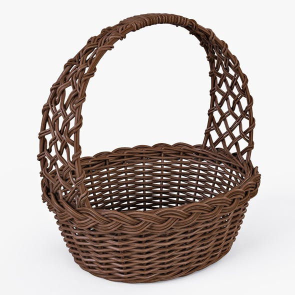 Wicker Basket 04 (Brown Color)