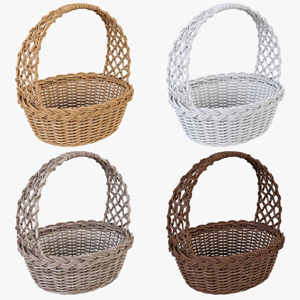 Wicker Basket 04 Set (4 Color)