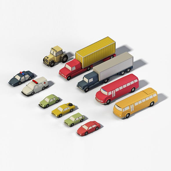 Lowpoly Vehicles - 3DOcean Item for Sale