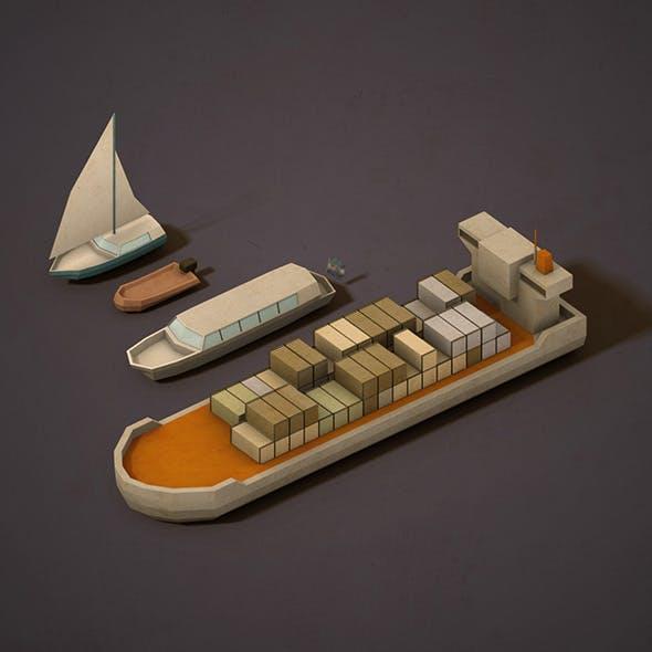 Lowpoly Boats