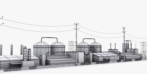 Industrial Area Model 1 - 3DOcean Item for Sale