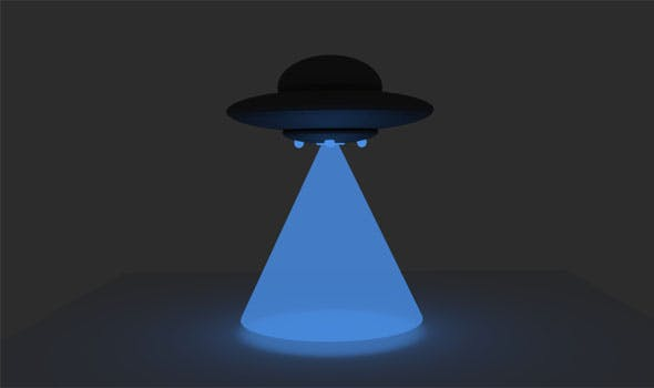 Low Poly Flying Saucer - 3DOcean Item for Sale
