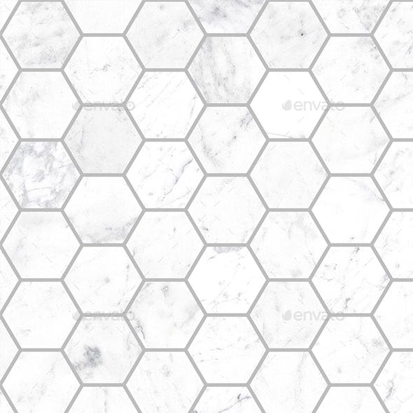 Seamless Small Marble Hexagon tiles